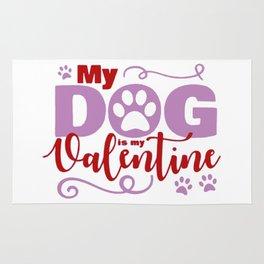 Dog Valentine Rug