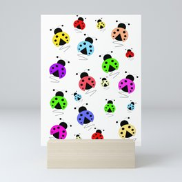 Colorful Ladybug Scatter Mini Art Print