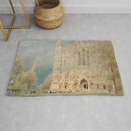 Salisbury Cathedral, English Landscape by Albert Goodwin Rug