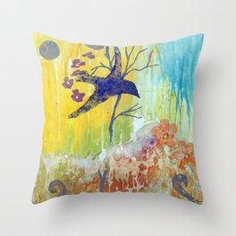 Soaring Bird Throw Pillow