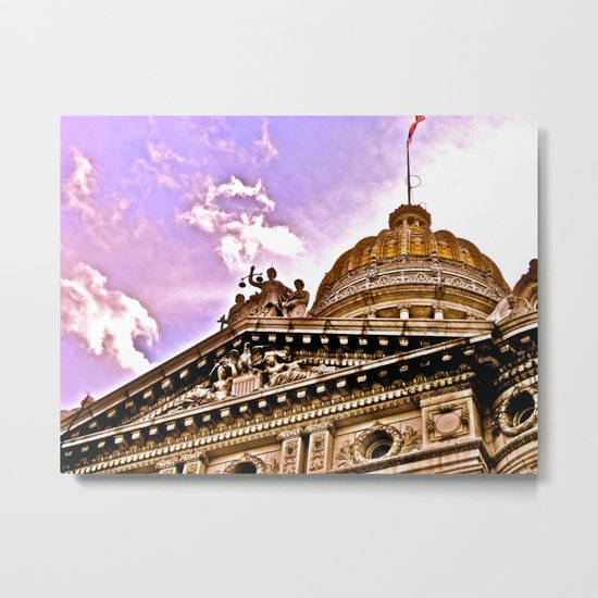 Details at the Courthouse Metal Print