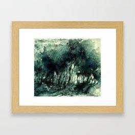 mürekkeple orman Framed Art Print