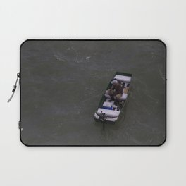 Fisherman Fishing on His Boat in Key Biscayne Miami Laptop Sleeve