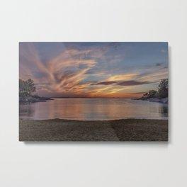 Plum Cove Beach Sunset 6-1-18 Metal Print