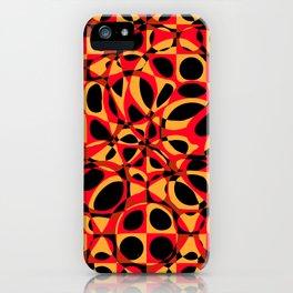 orange red circle pattern iPhone Case
