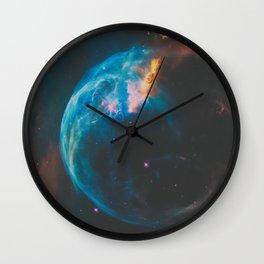 Bubble Nebula Space Wall Clock