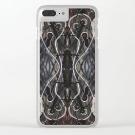Ghosts Emerging Clear iPhone Case