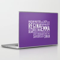 ouat Laptop & iPad Skins featuring Swan Queen Nicknames - Purple (OUAT) by CLM Design