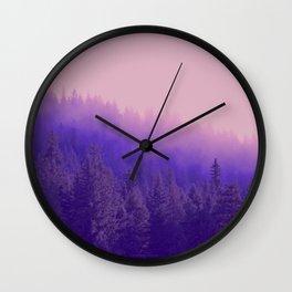 Rose Quartz Fog Wall Clock