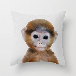 bébé singe, bébé singe, Baby Monkey Wall Art, Baby Animal  Throw Pillow