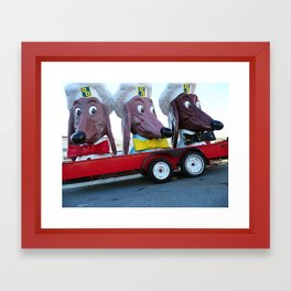 Doggie Diner heads, Fort Mason, San Francisco, CA Framed Art Print