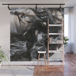 black plastic 02 Wall Mural