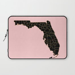 Pink and old Florida map Laptop Sleeve