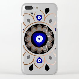 Copper Evil Eye Mandala Clear iPhone Case