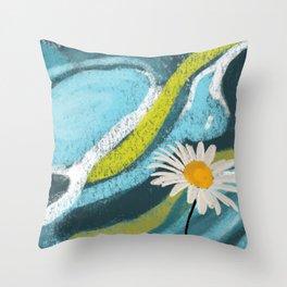 Daisy Vortex Throw Pillow
