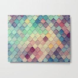 old vintage colorful tiles Metal Print