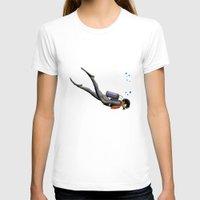 diver T-shirts featuring S.C.U.B.A. Diver by MacDonald Creative Studios