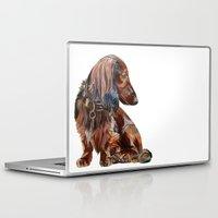 dachshund Laptop & iPad Skins featuring Dachshund by Anne Hviid Nicolaisen