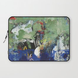 Finback Abstract Blue Green Laptop Sleeve