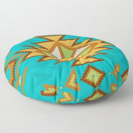 Native Aztec Tribal Turquoise Pattern Floor Pillow
