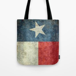 Texas flag, Retro style Vertical Banner Tote Bag
