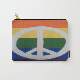 Rainbow Peace Sign Carry-All Pouch