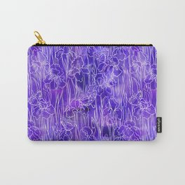 violet iris and butterfly Carry-All Pouch