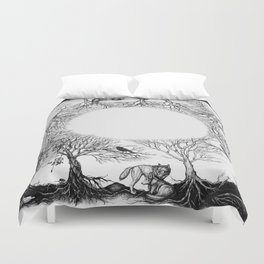 The last person in the world Duvet Cover