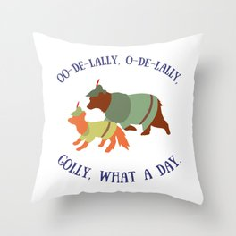 Robin Hood and Little John Throw Pillow