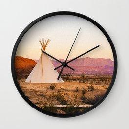Tipi / Texas Wall Clock