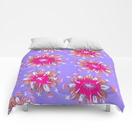 Pink Christie Rose Comforters