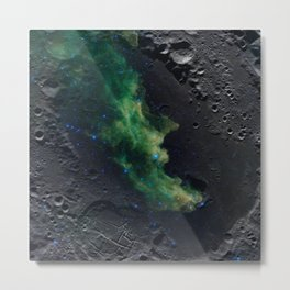 The Witch's Mirror The Dark Side Of The Moon (Mare Moscoviense & Witch Head Nebula) Metal Print