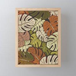 Grunge Monstera Leaves #3 Framed Mini Art Print