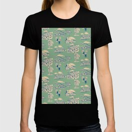Georgian Bay Toille de Jouy - Jade T-shirt