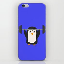 Penguin Weightlifting iPhone Skin