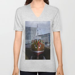 Dazzle ship Unisex V-Neck