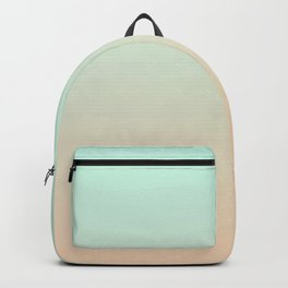 MELLOW TIMES - Minimal Plain Soft Mood Color Blend Prints Backpack