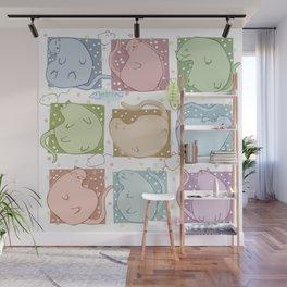 Blobby Cats Wall Mural