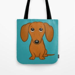 Shorthaired Dachshund Cartoon Dog Tote Bag