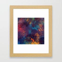 Colorful mix art Framed Art Print
