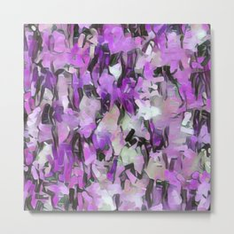 Confetti Lavender Tints Metal Print