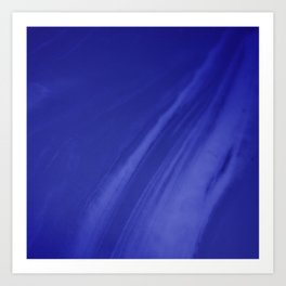 Blurred Royal Blue Wave Trajectory Art Print