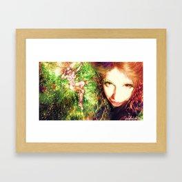 FAIRY GODDESS LADYKASHMIR Framed Art Print
