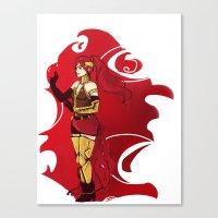 rwby Canvas Prints featuring RWBY Pyrrha by IslandMyths