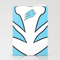 power ranger Stationery Cards featuring Cyan Spirit Ranger by JoSumdac