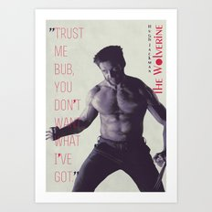 The Wolverine Art Print
