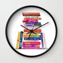 Black Authored Books Wall Clock