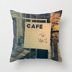 Cafe The Wall Throw Pillow