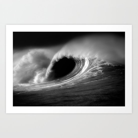 More Fun With Big Waves Art Print