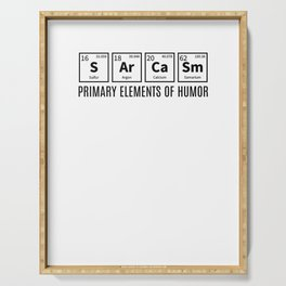 Primary Elements Of Humor Serving Tray